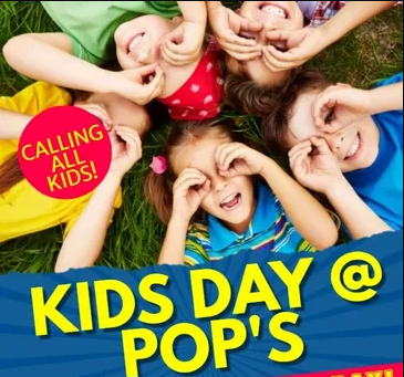 calling all kids! kids day @ pop's