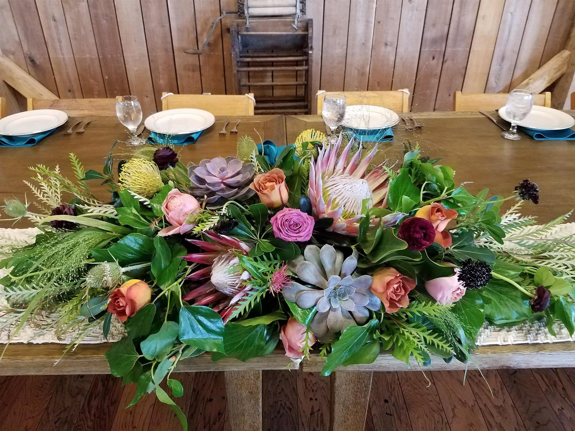 a flower centerpiece