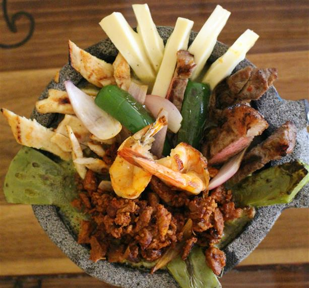 Molcajete mixto and Shrimp