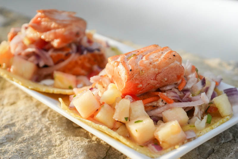 seafood taco appetizer