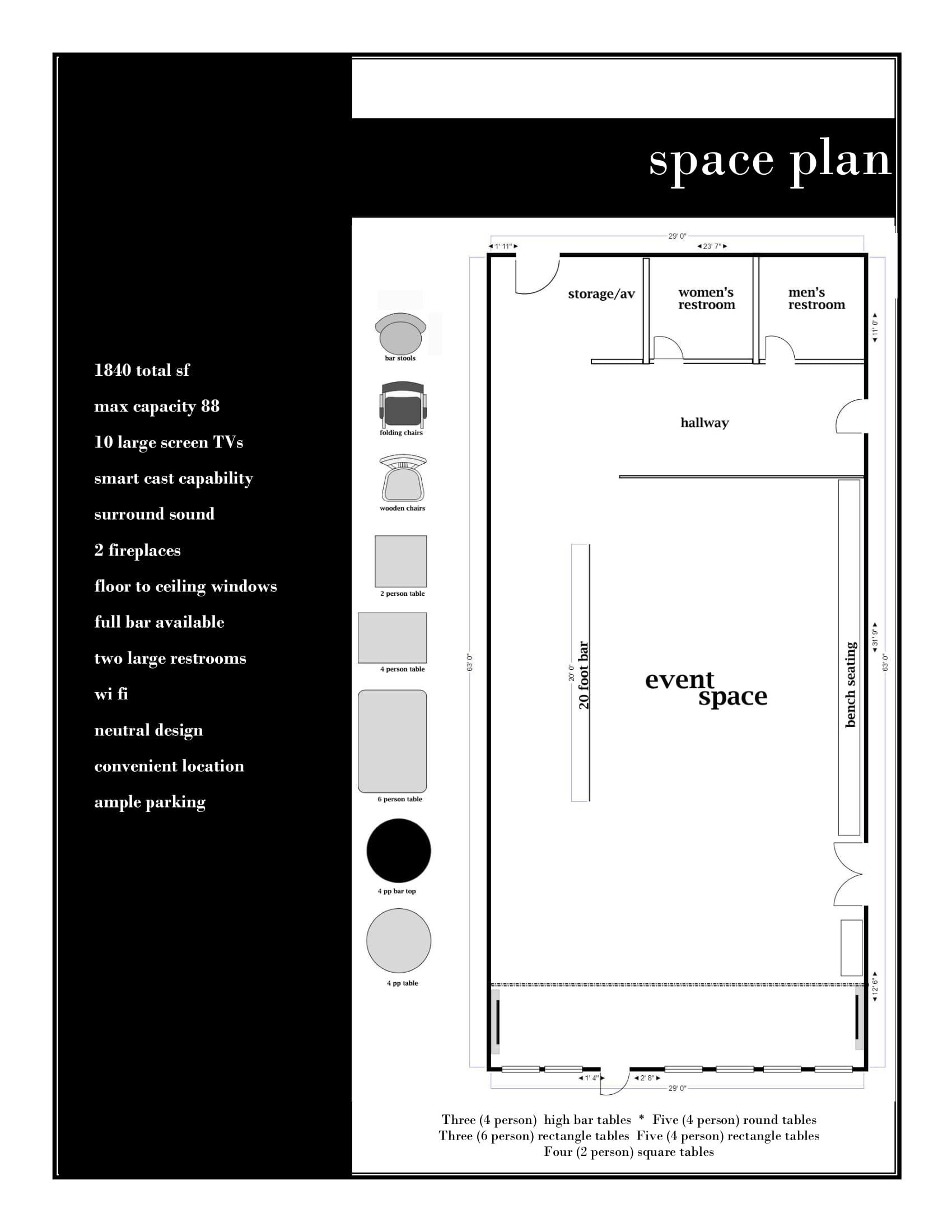 Space Plan - click for readable PDF