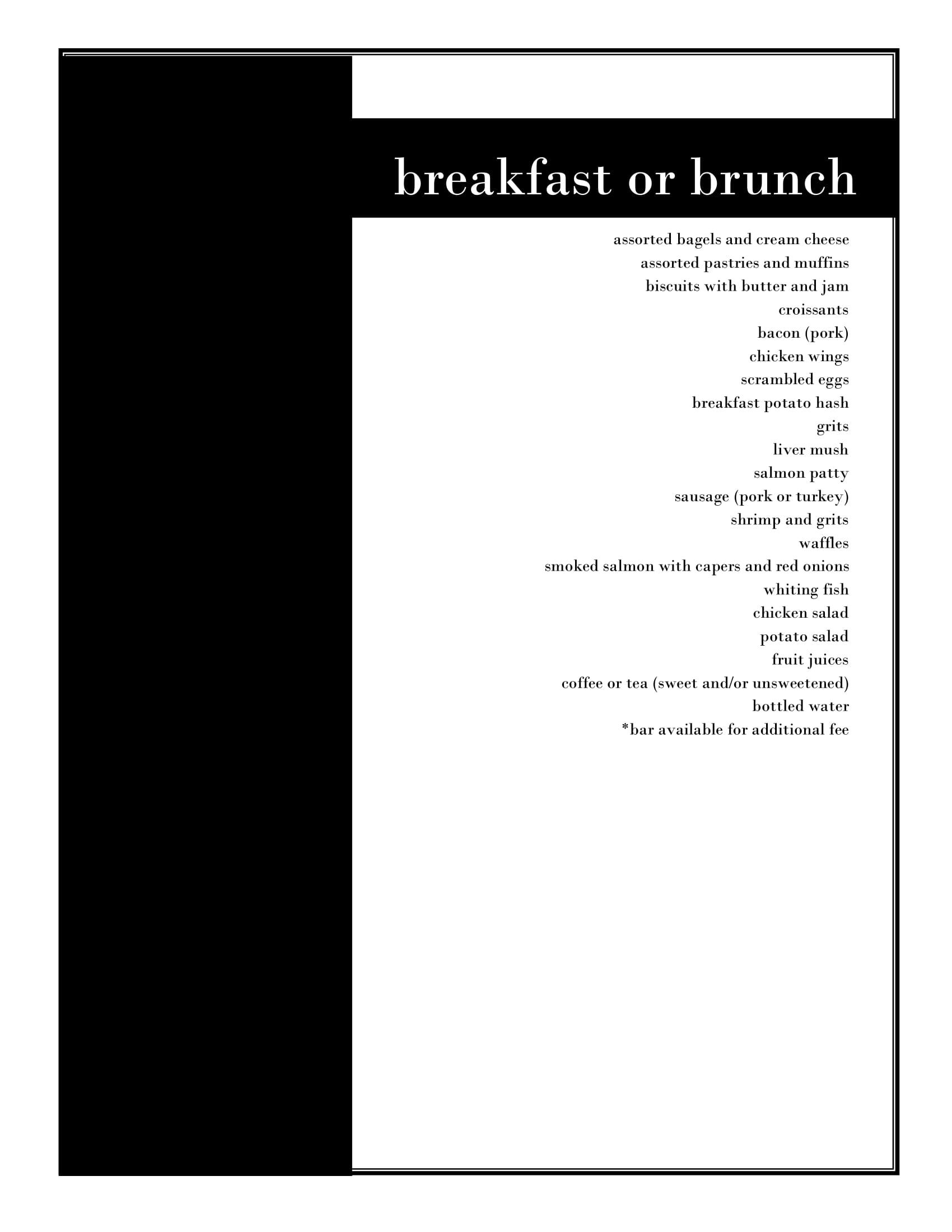 Menu - click for readable PDF