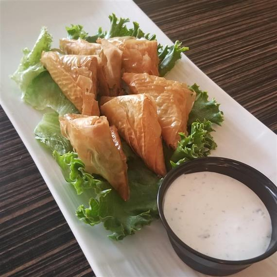 spankopita filled with spinach and fetta