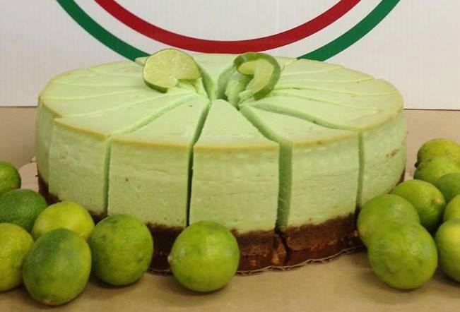 homemade keylime cheesecake