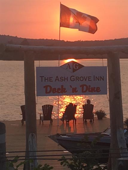 Ash grove dock and dine sunset