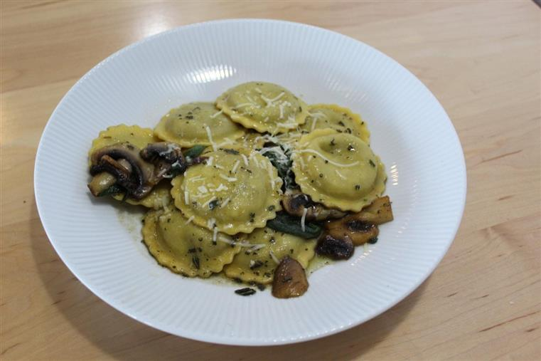 mushroom ravioli, food, restaurant, barrys bay, madawaska valley, rural ontario