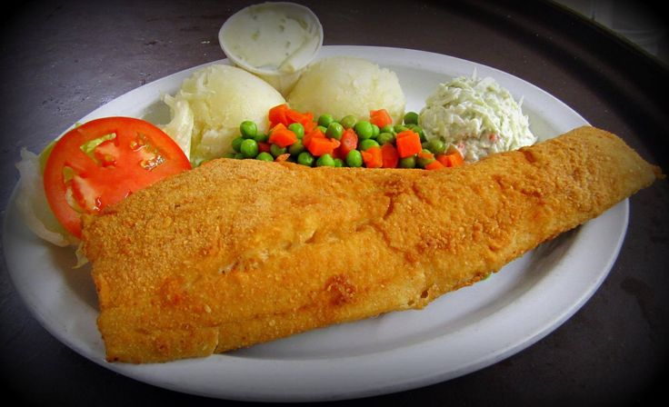 Deep Fried Haddock Fillet Dinner
