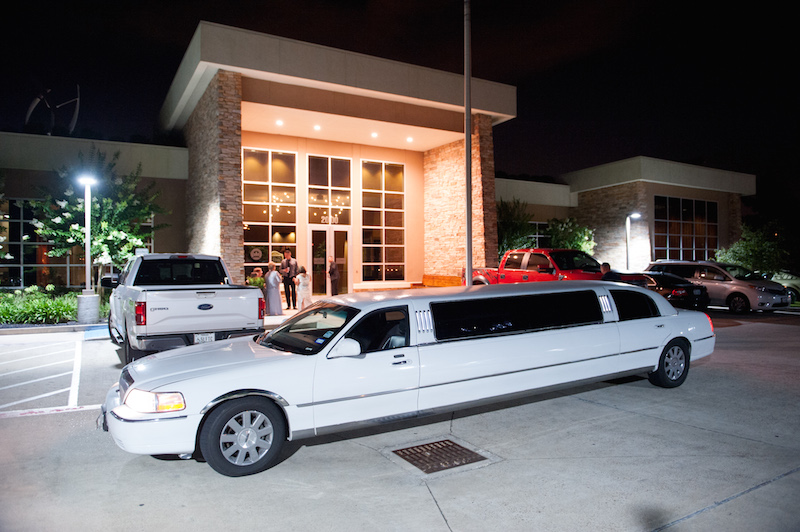 limo in front of the Green Event Center
