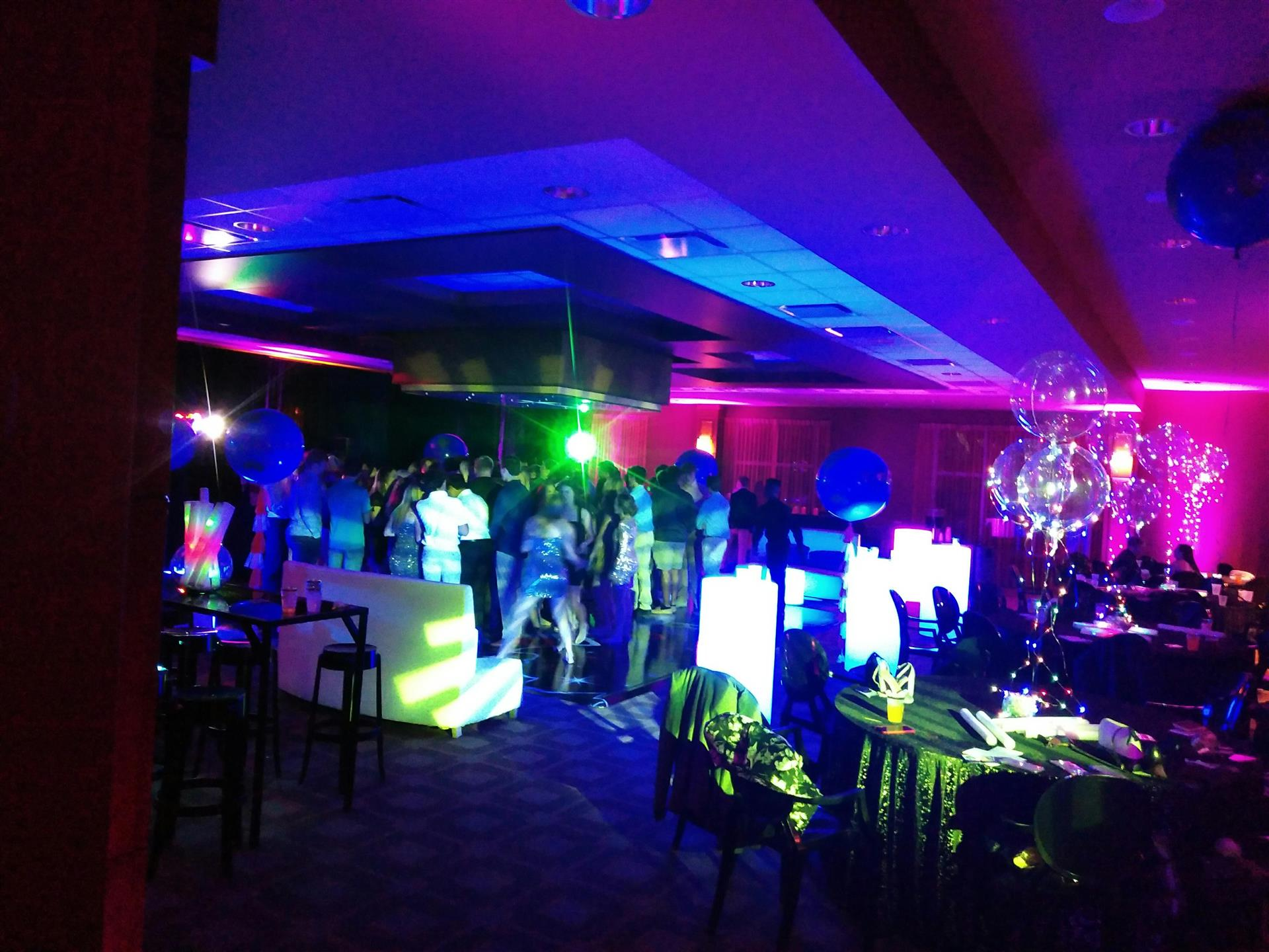 glow party event space