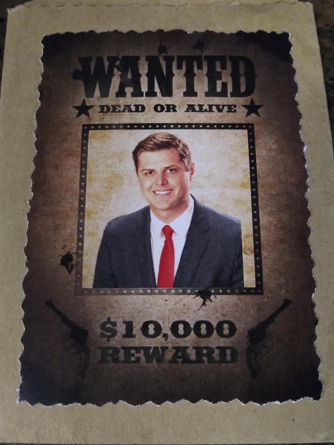 Faux wanted poster for cowboy party