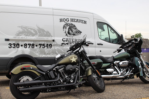 hog heaven delivery van and a motorcycle
