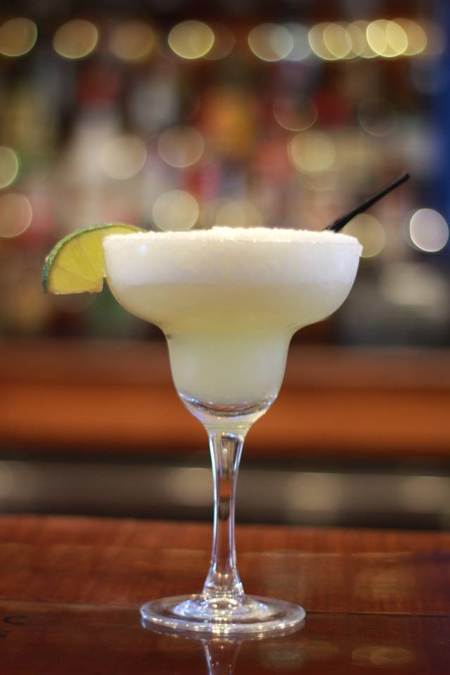 frozen margarita on the bar