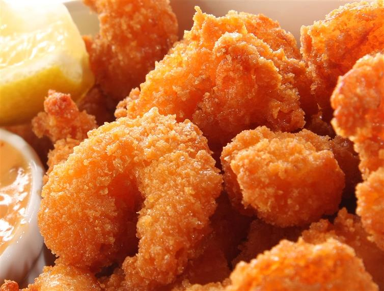 shrimp breaded and fried