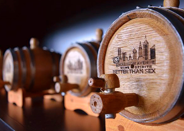 Barrels filled with Wine