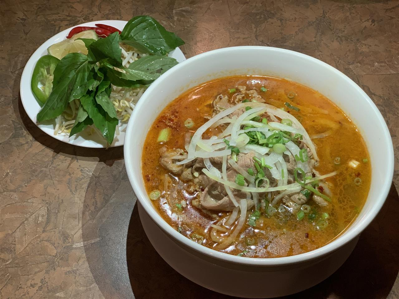 (33A) Satay Chicken Rice Noodle Soup  or Beef or Seafood