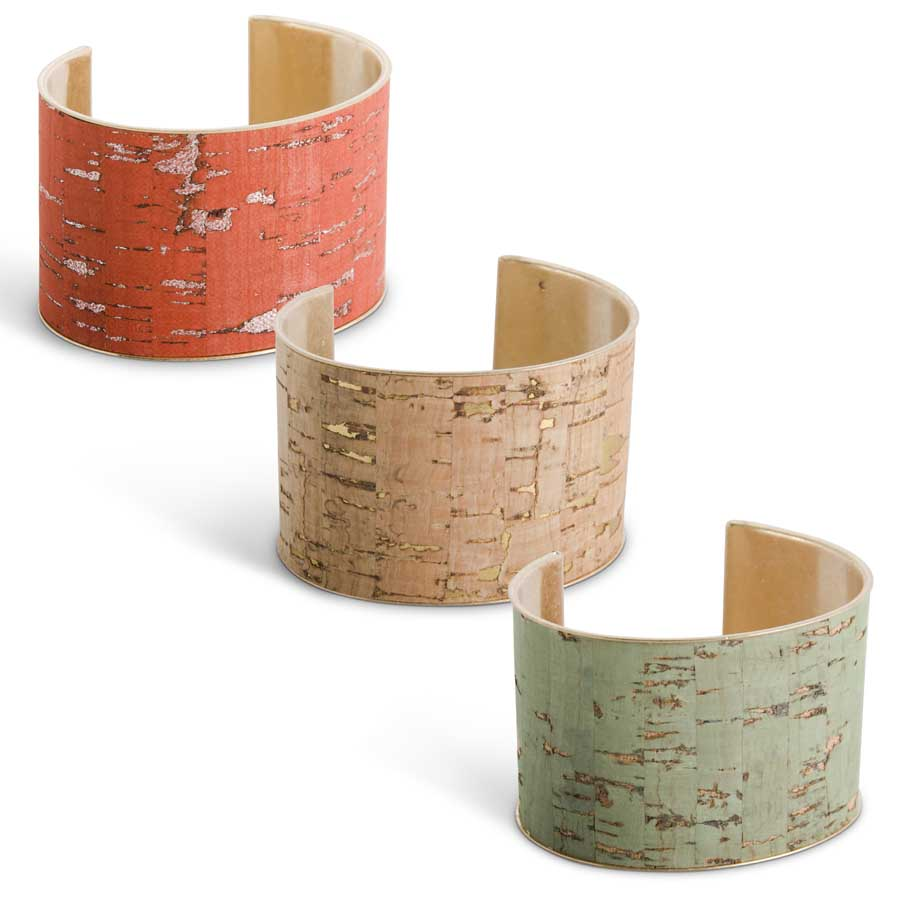 Cork Cuff Bracelet in 3 colors