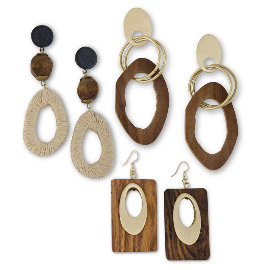 Cool, textured summer earrings in three styles
