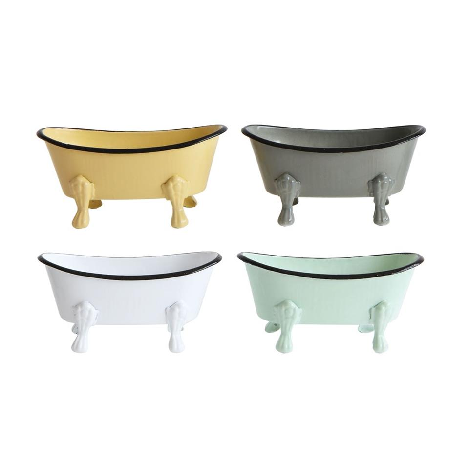 Metal Bath Tub Soap Dish in four colors
