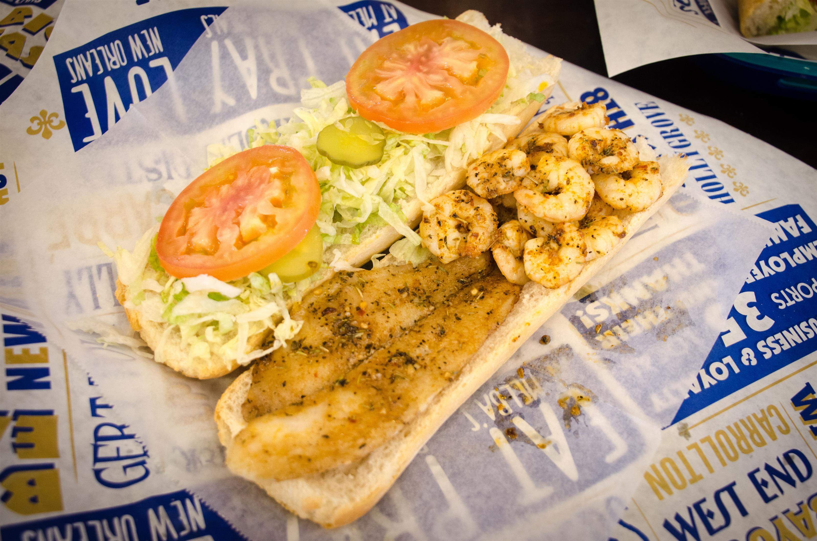 Fish and Shrimp PoBoy