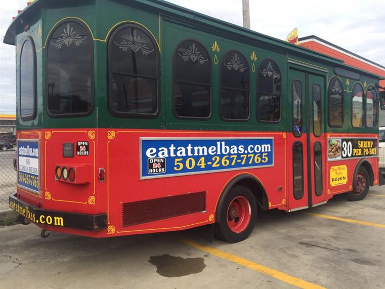 Eat at Melba's trolley in the street