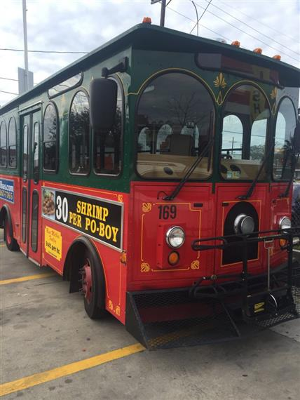 Eat at Melba's trolley on the street