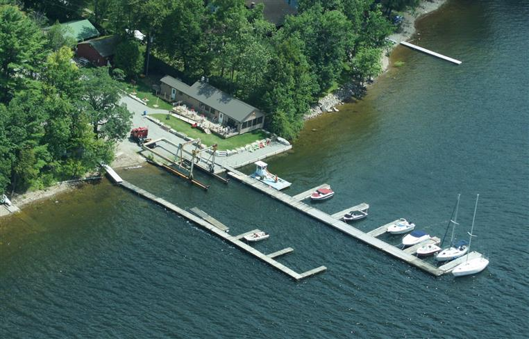 aerial view of Indian Bay Restaurant and Marina
