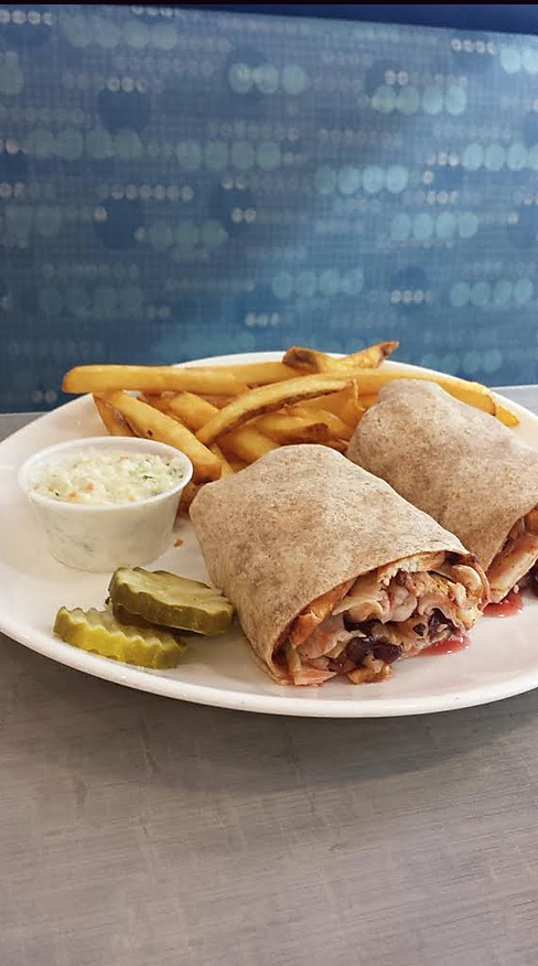 Raspberry Chicken Wrap
