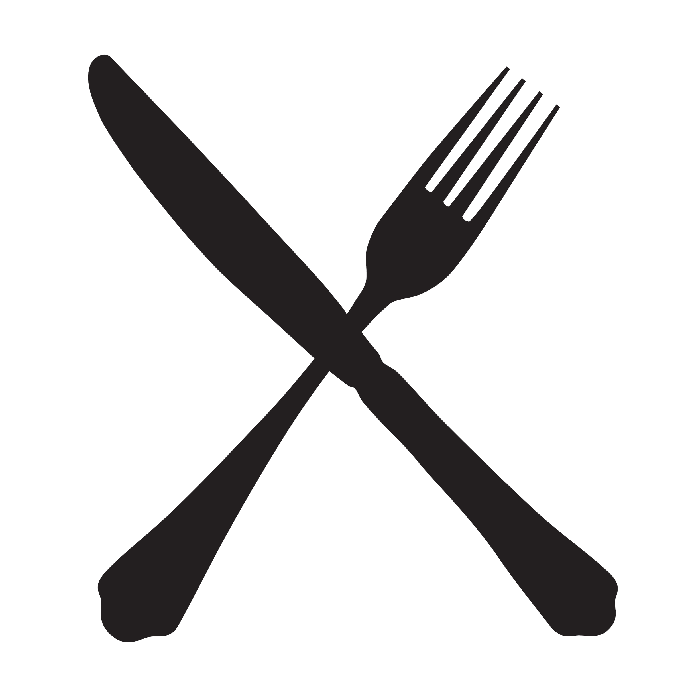 fork and knife illustration