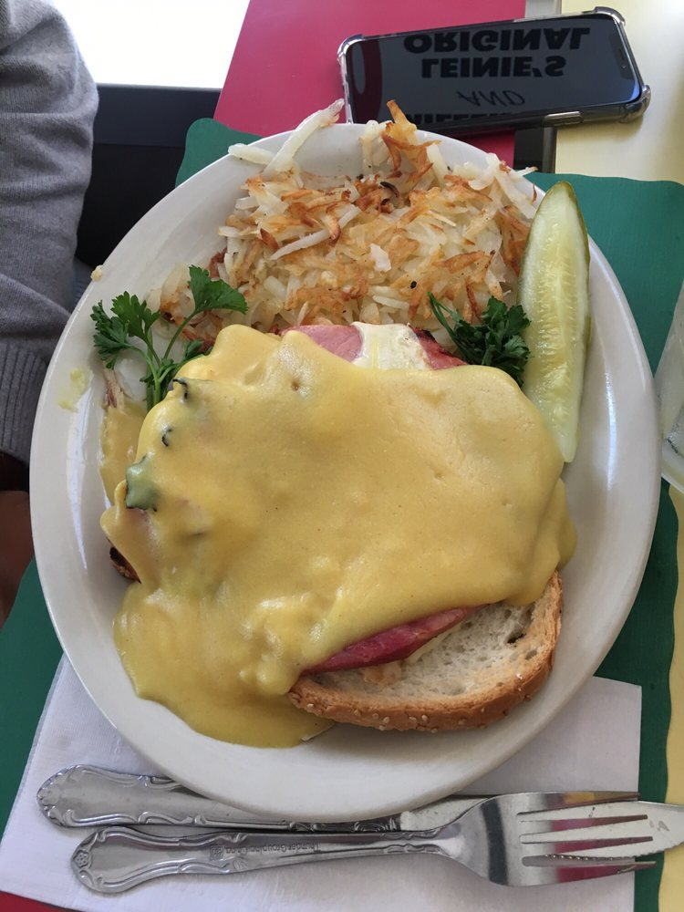 eggs benedict with side of hash browns