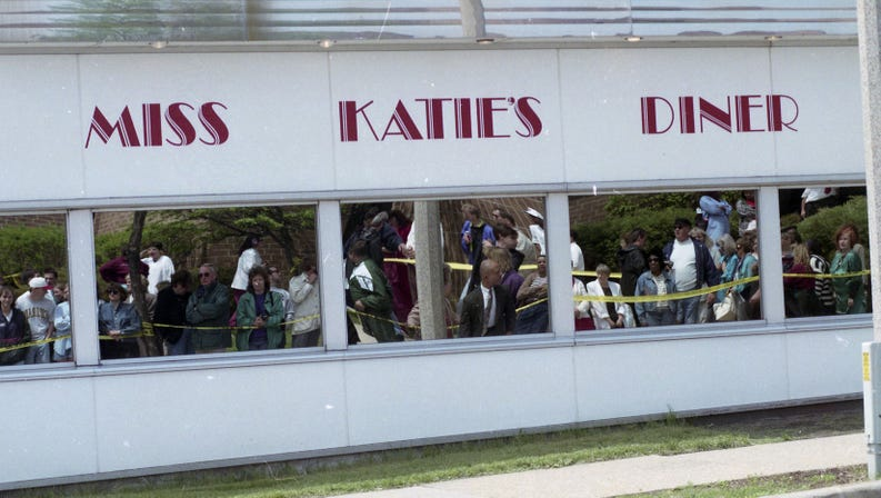 Miss Katie's Diner storefront with logo