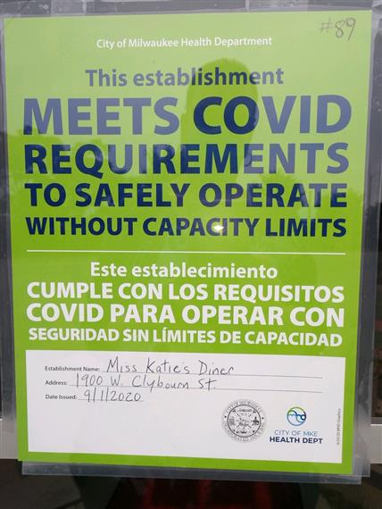 This establishment meets covid requirements to safely operate without caoacity limits