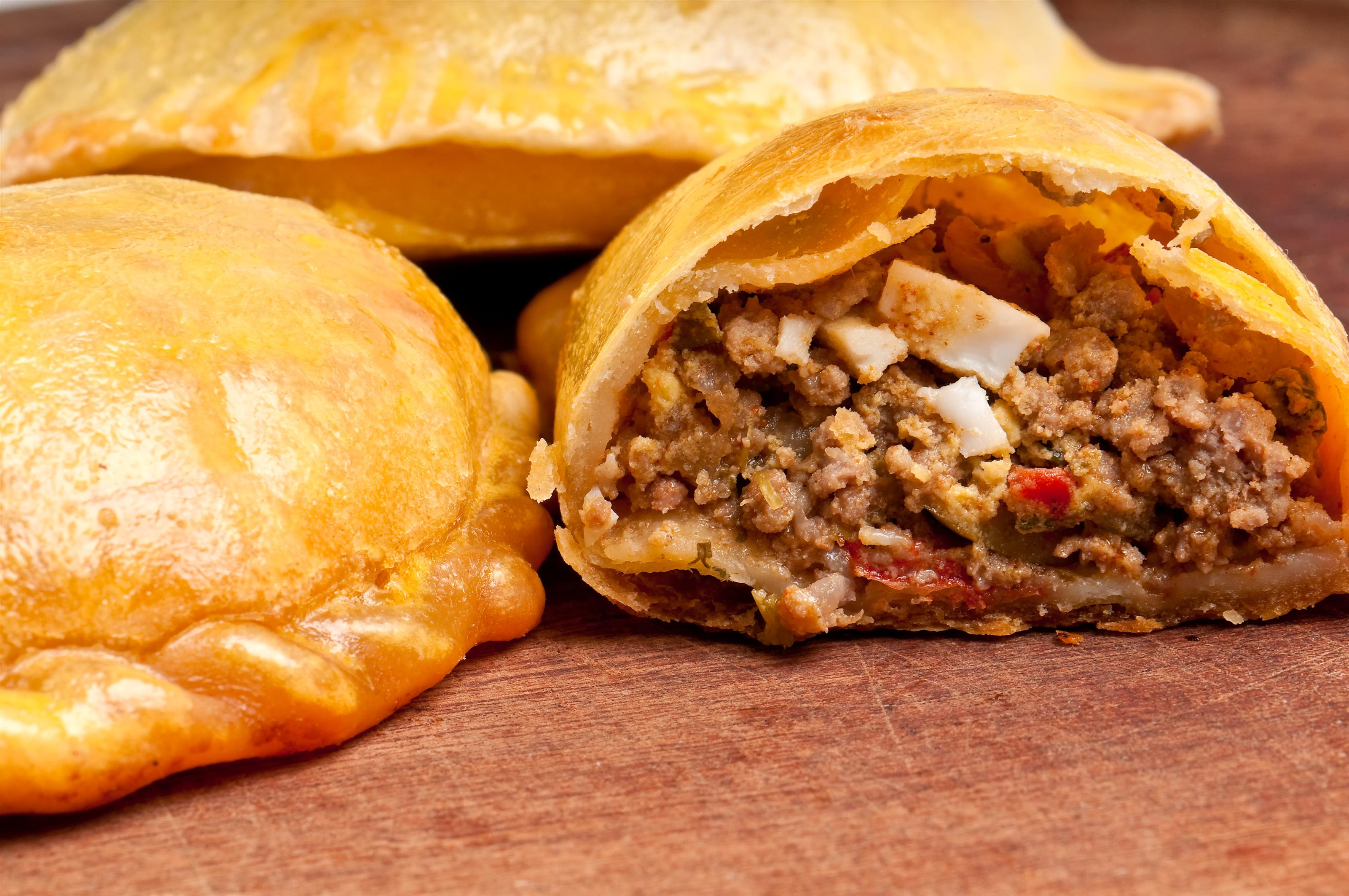 Empanadillas: pastries stuffed with ground meat, cheese, vegetables, and spices