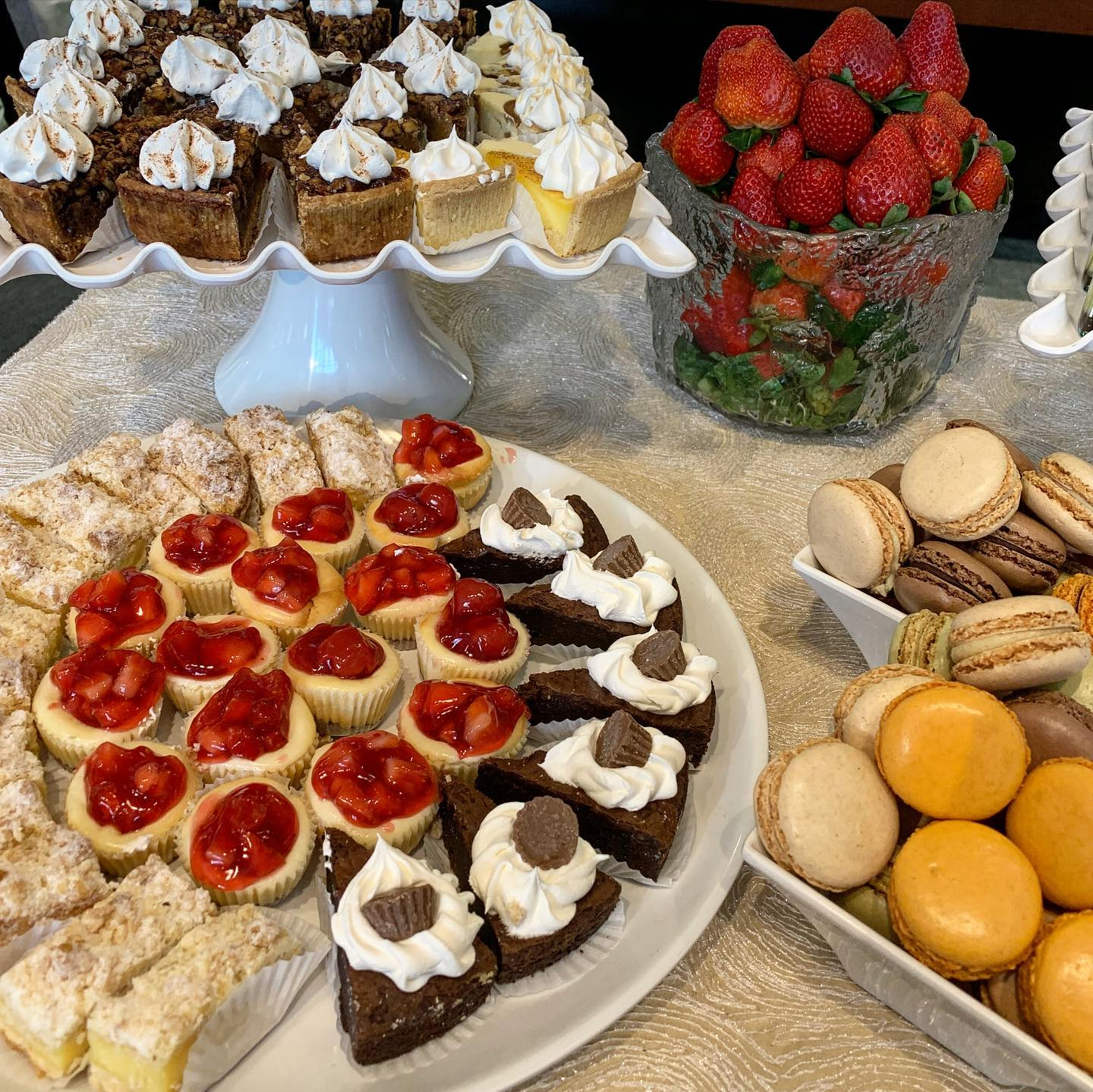 assorted dessert platters for an event