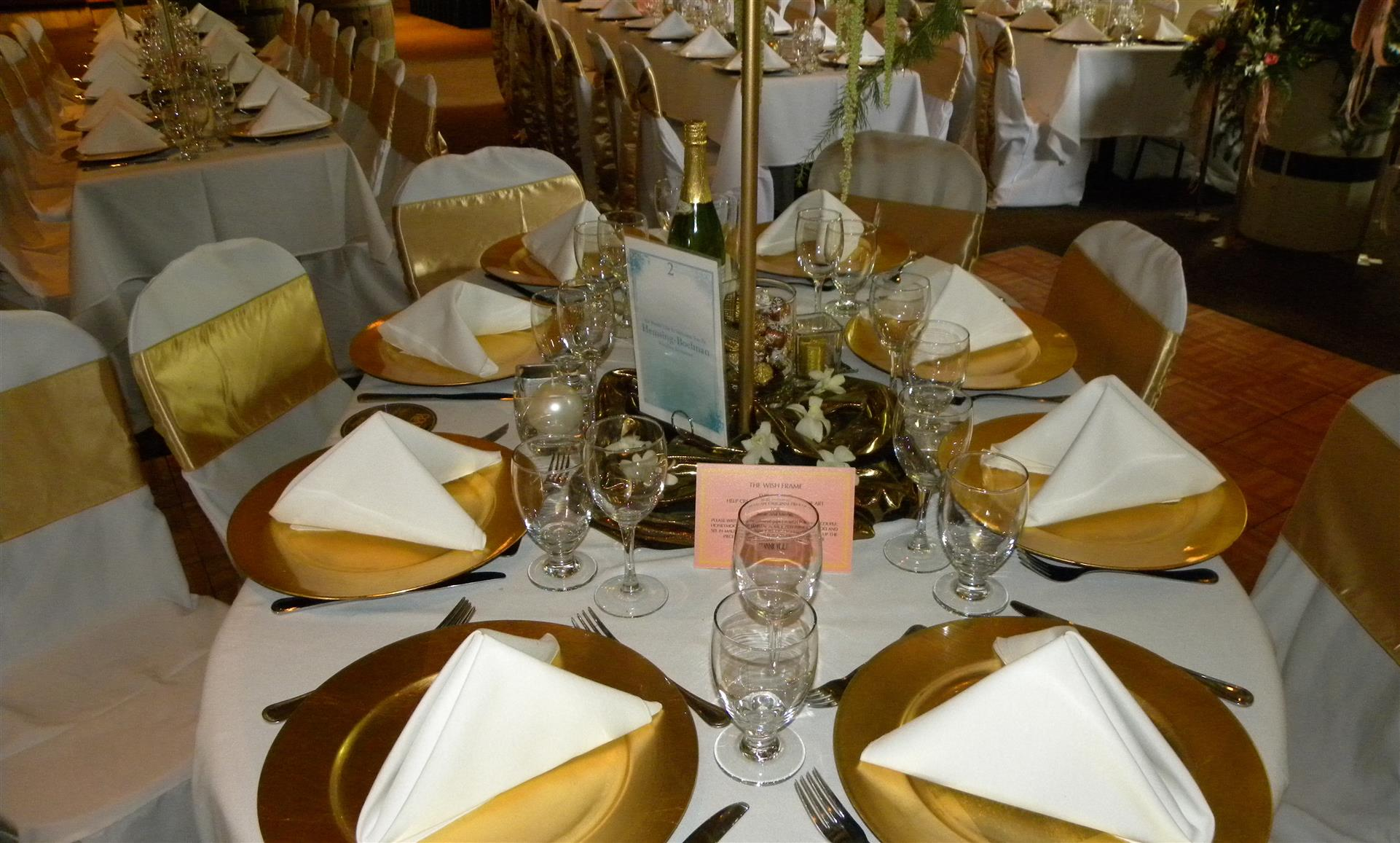 table set with decor