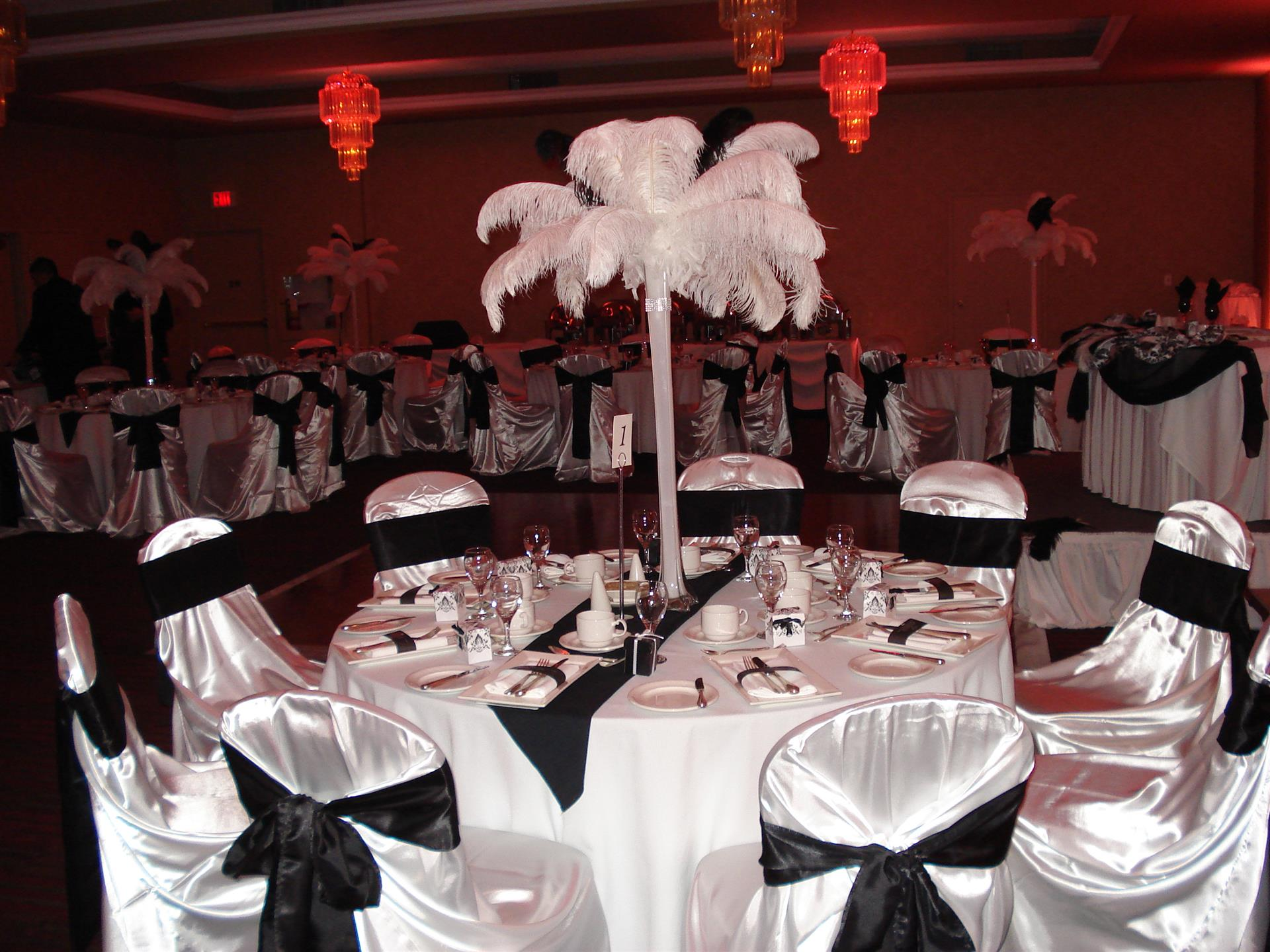 party room  with flowers and decor