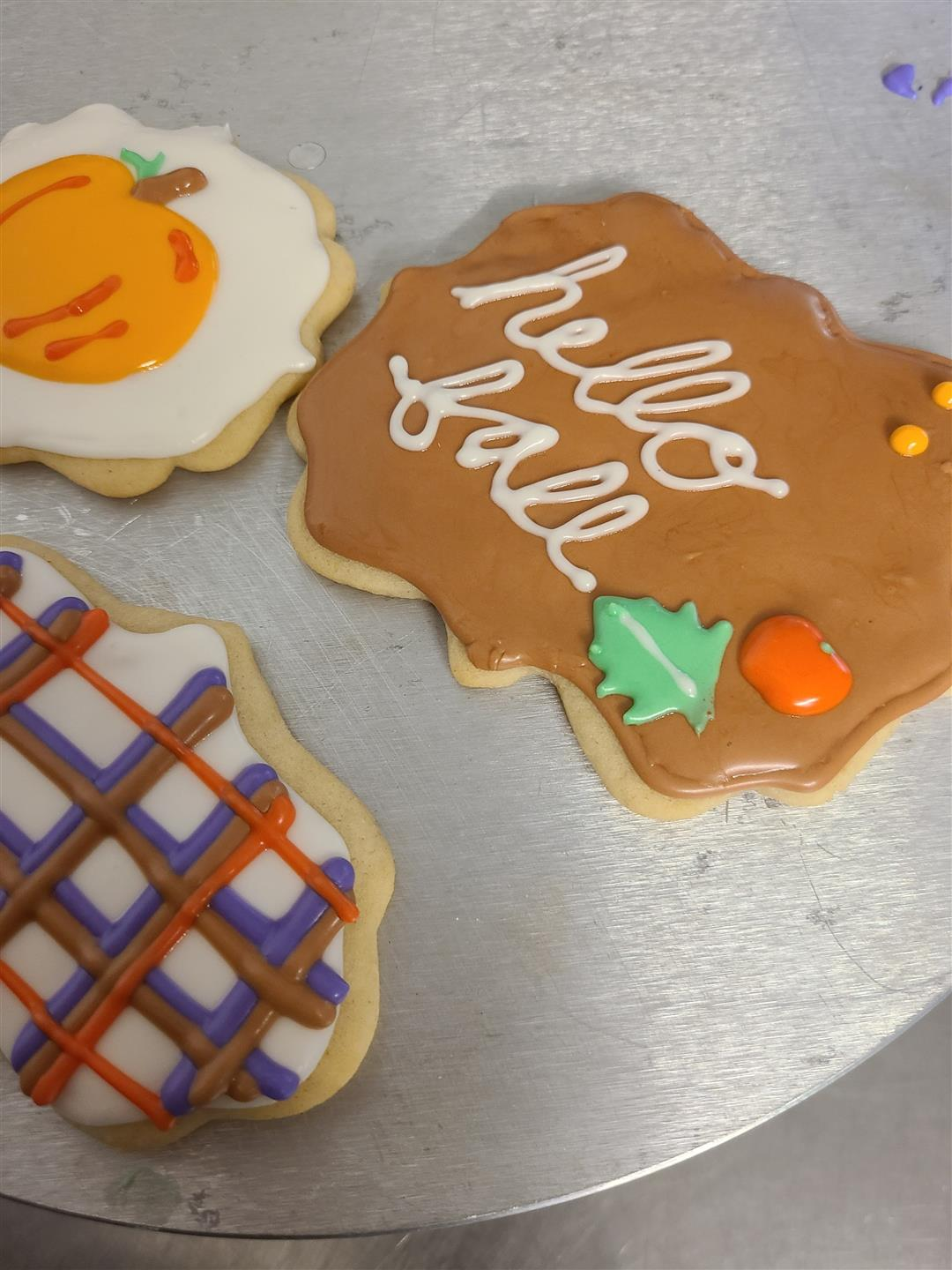 Fall themed sugar cookies