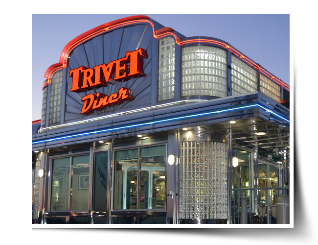 Exterior of the Trivet Diner Emmaus Location