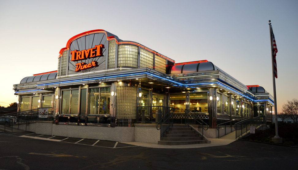 Exterior of the Trivet Diner Allentown Location