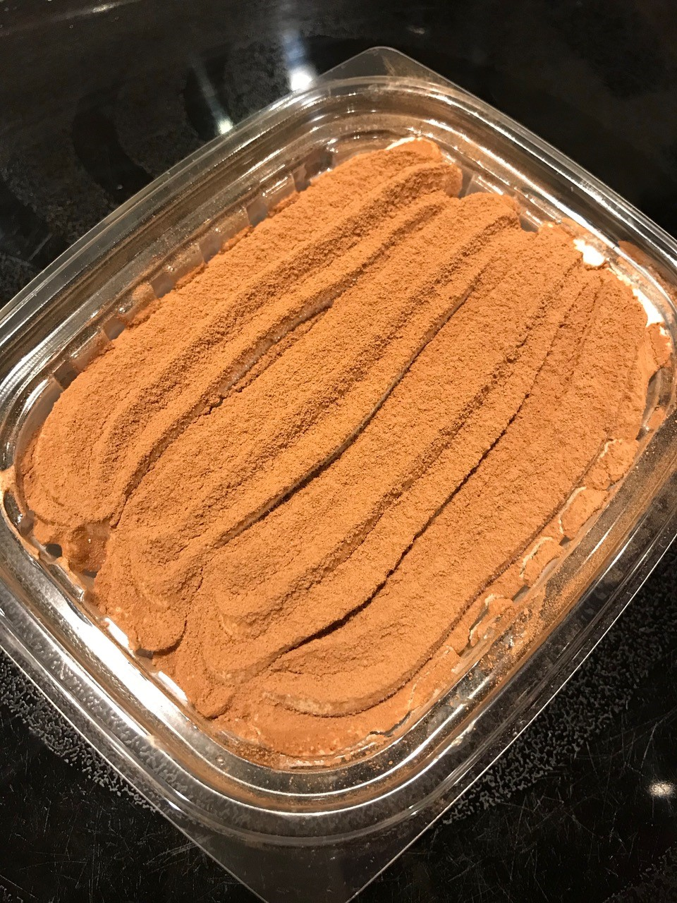 homemade chocolate gelato in a container