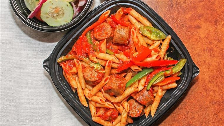 penne pasta with sausage and peppers