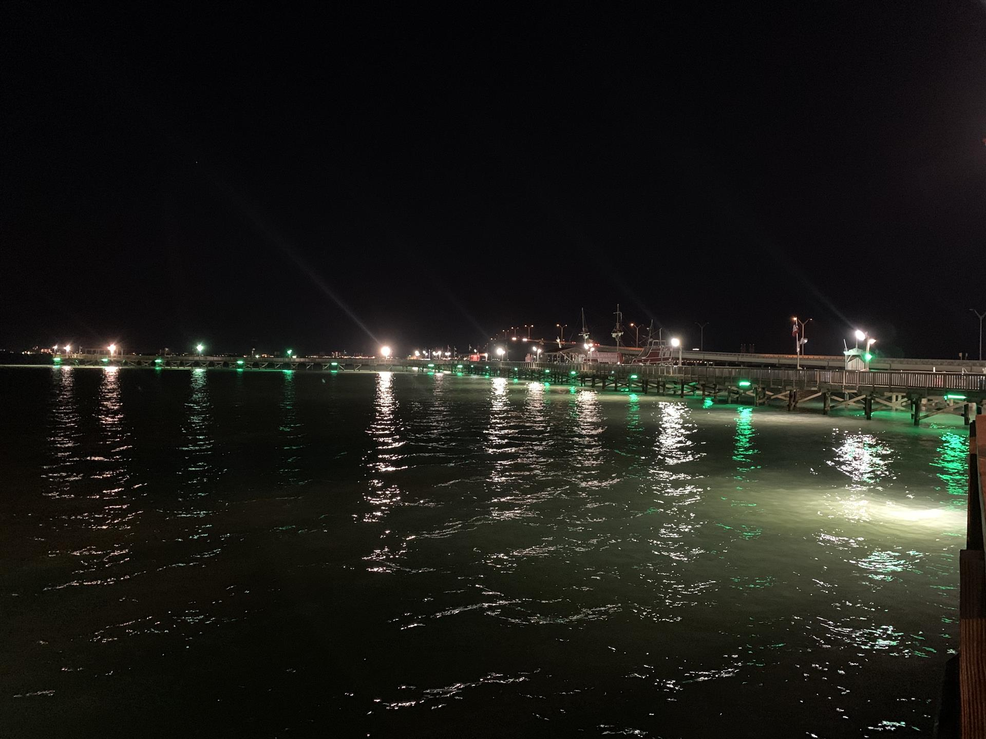 picture of the pier at night