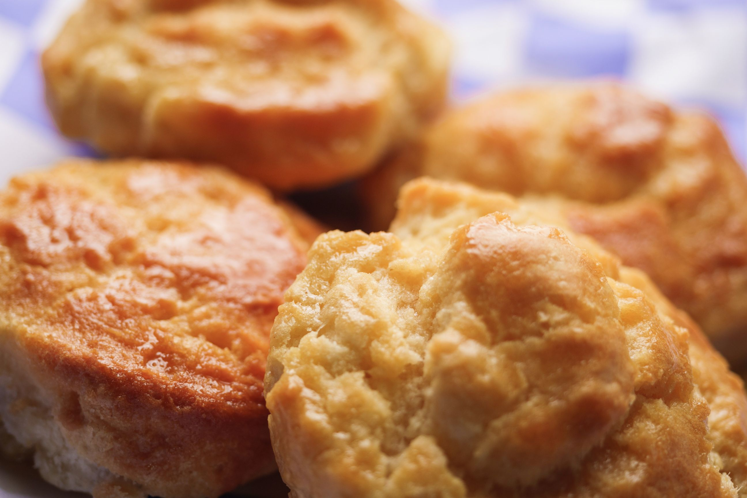 close-up of fresh baked biscuits