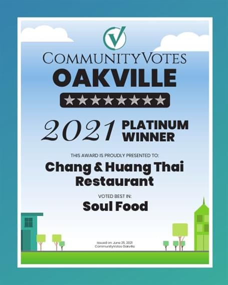 2021 Community Votes - CHang & Huang Thia Restaurant voted best in Soul Food