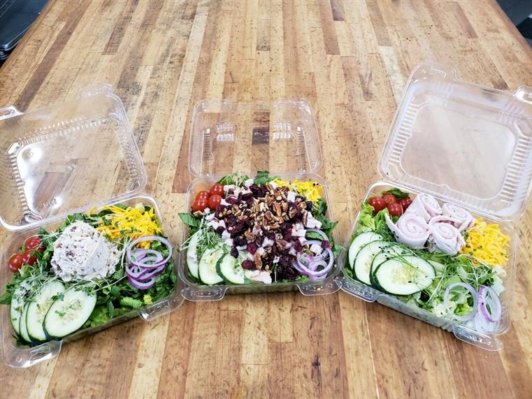 prepared salads ready to go