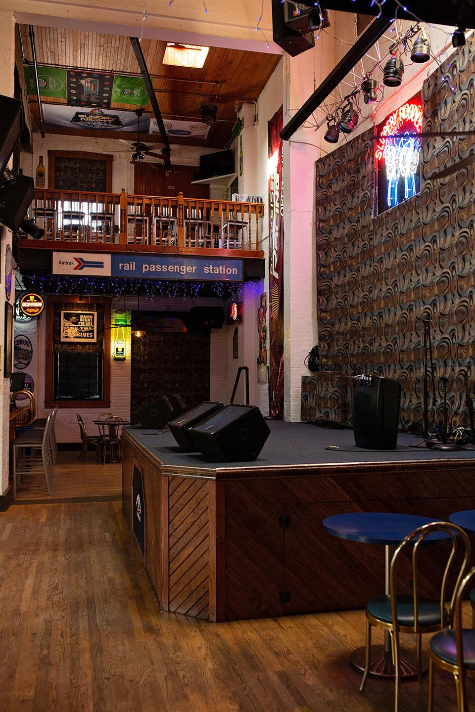 backroom talls hot, showing upstairs and stage