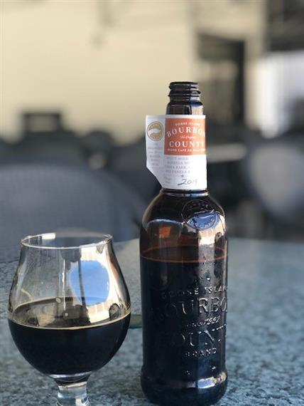 bottle of goose island bourbon county stout
