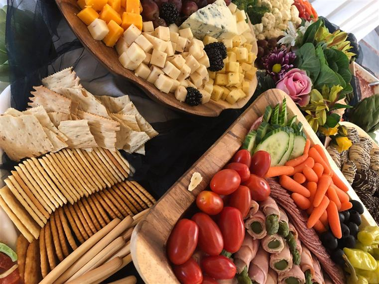 A charcuterie display