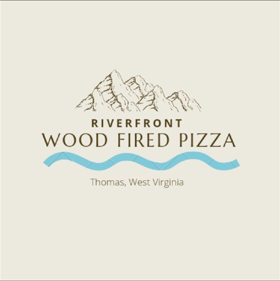 Logo for Riverfront Wood fired Pizza in Thomas, WV