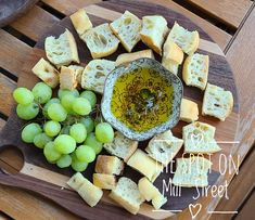 Warm Toasted Foccocia Bread served with Rosemary seasoned olive oil.