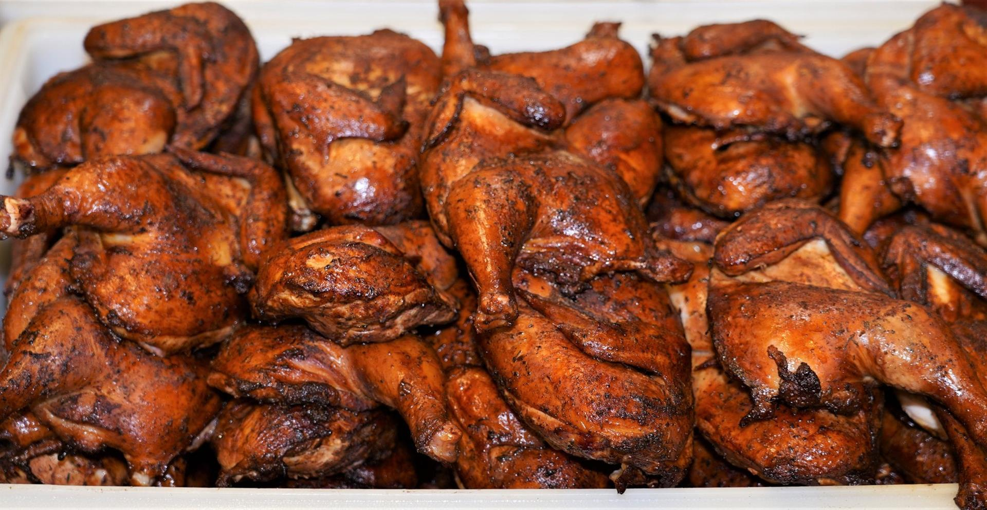 variety of smoked chicken wings